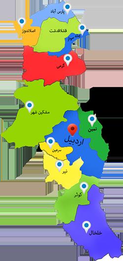 تقسیمات استان اردبیل