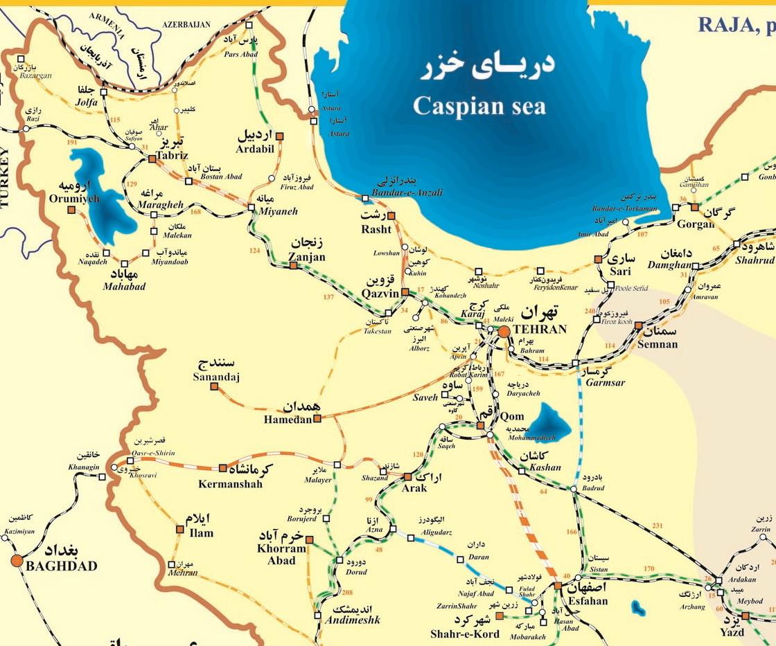 طرح های مورد مطالعه خط های راه آهن ایران