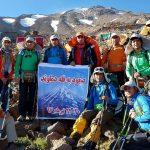 صعود هیئت کوه نوردی شهرستان پارساباد به قله دماوند