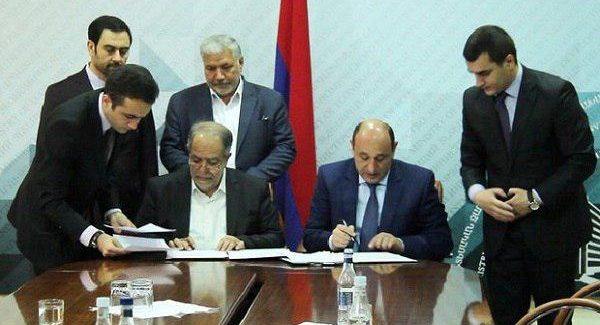 امضای تفاهم نامه اقتصادی میان ایران و ارمنستان
