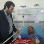 ملاقات فرماندار شهرستان پارس آباد با کارگر مصدوم شرکت کشت و صنعت مغان