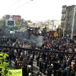 راهپیمایی دانش آموزان و مردم شهرستان پارس آباد بمناسبت ۱۳ ابان